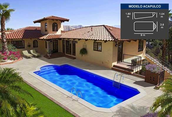 Acapulco archivos piscinas coinpol - Medidas de piscinas de casas ...