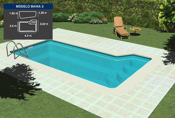 Bah a 3 piscinas coinpol for Modelos gresite piscinas